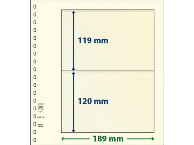 Albový list 802204 - 2 kapsy T-Blank Lindner