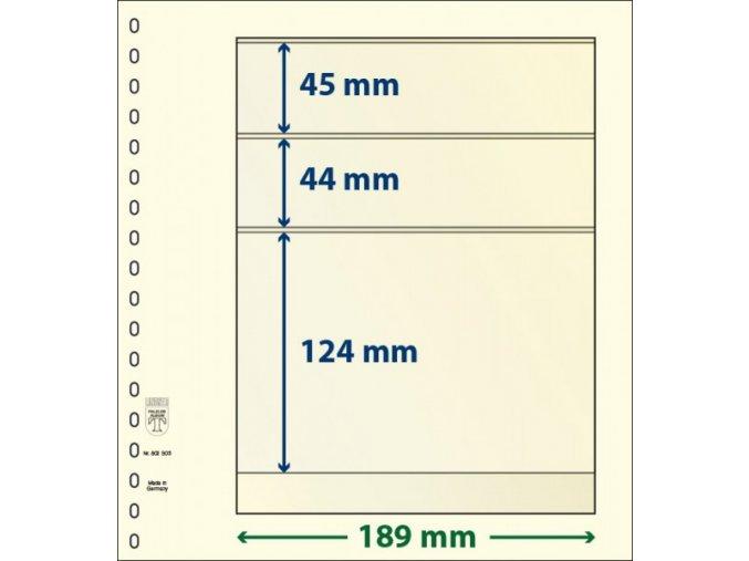 Albový list 802305 - 3 kapsy T-Blank Lindner