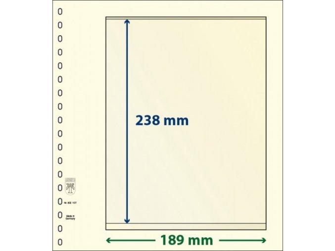 Albové listy 802107P - 1 kapsa T-Blank Lindner