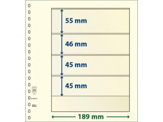 Albové listy 802401P - 4 kapsy T-Blank Lindner