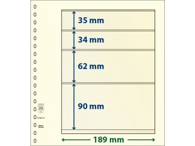 Albové listy 802414P - 4 kapsy T-Blank Lindner