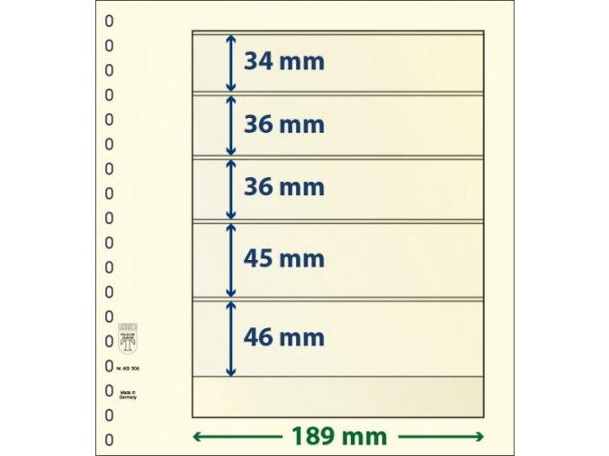 Albové listy 802508P - 5 kapes T-Blank Lindner
