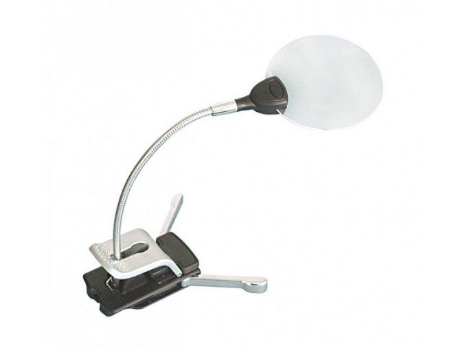 Lupa Lindner s LED osvětlením a stojánkem a klipem