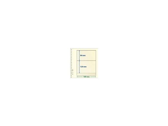 Albový list 802211 - 2 kapsy T-Blank Lindner