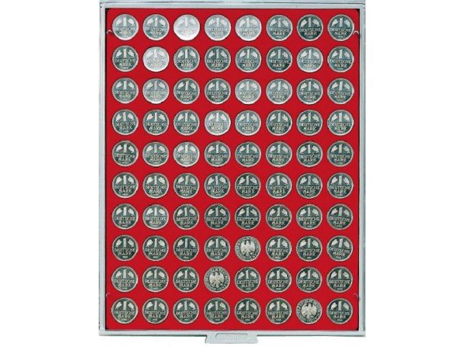 Kazeta na 80 mincí, průměr 23,5 mm Standard 2108