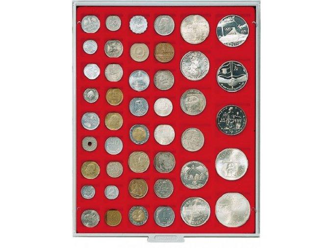Kazeta na 45 mincí, různé průměry Standard 2145