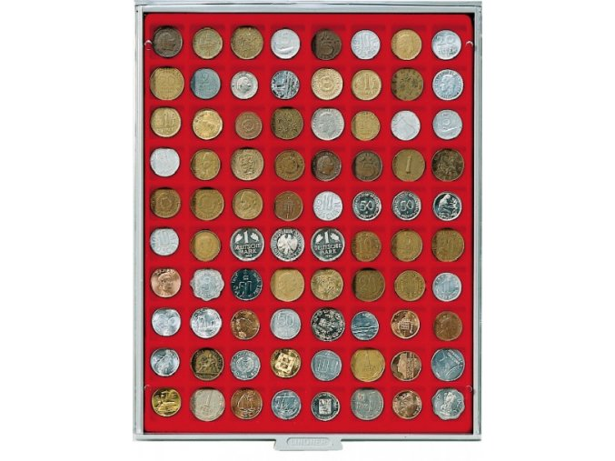 Kazeta na 80 mincí, průměr 24 mm Standard 2180