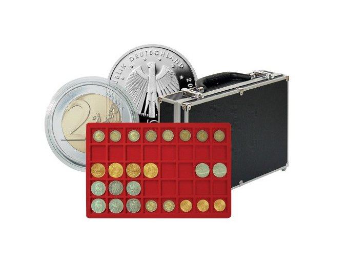 Velký kufřík na mince s 8 podnosy 2338-320