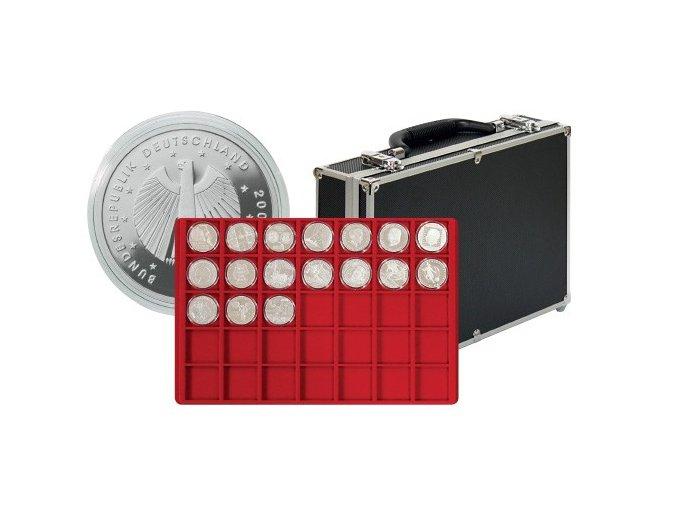 Velký kufřík na mince s 8 podnosy 2338-280