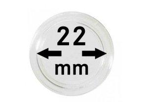 Kapsle na mince 22 mm