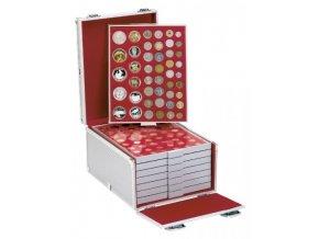 Sběratelský box hliníkový na 8 kazet (prázdný) 2358