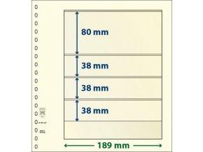 Albový list 802405 - 4 kapsy T-Blank Lindner