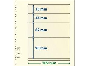 Albový list 802414 - 4 kapsy T-Blank Lindner