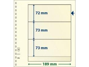 Albový list 802320 - 3 kapsy T-Blank Lindner