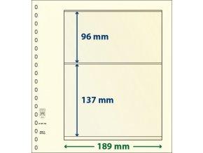 Albový list 802209 - 2 kapsy T-Blank Lindner