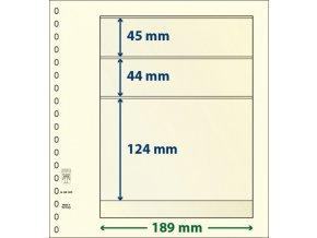 Albové listy 802305P - 3 kapsy T-Blank Lindner