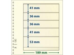 Albové listy 802502P - 5 kapes T-Blank Lindner