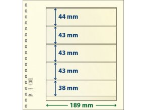 Albové listy 802512P - 5 kapes T-Blank Lindner