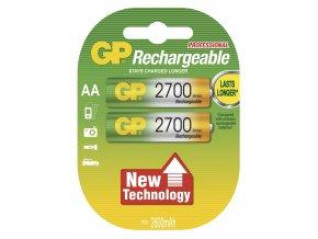 Nabíjecí baterie GP NiMH2700 HR6 (AA), 2 ks v blistru