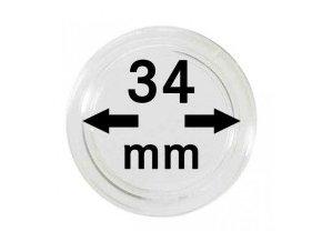 Kapsle na mince 34 mm