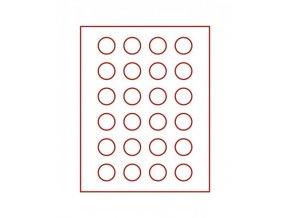 Kazeta na 24 mincí, průměr 32,5 mm Smoked Glass 2710