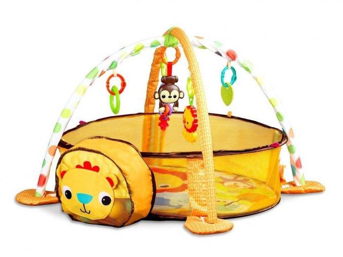 Ecotoys hracia deka s 30 loptičkami Levíček