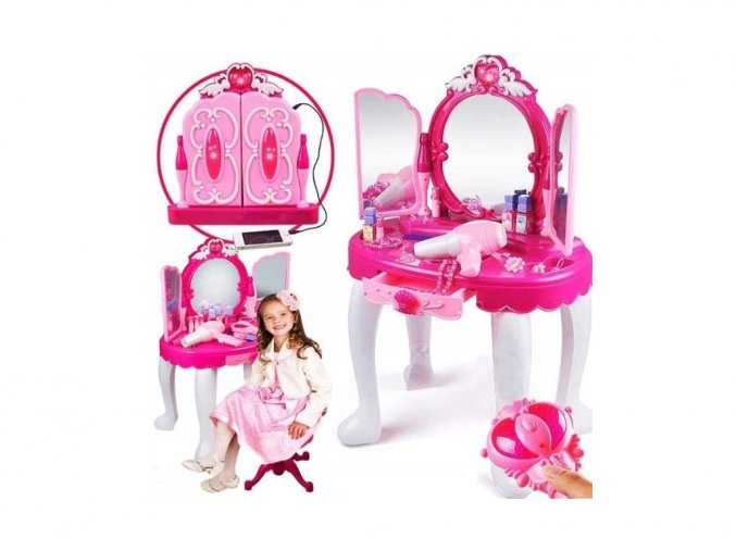 Doris detský toaletný stolček Čarovné zrkadlo