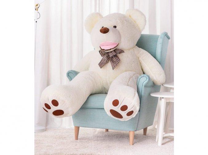 Plyšový medveď Maty 160 cm biely