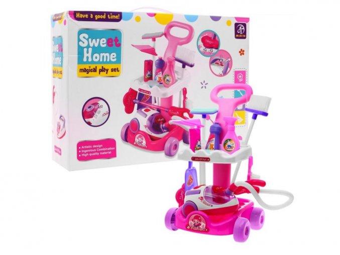 Majlo Toys detský upratovací vozík s vysávačom Sweet Home