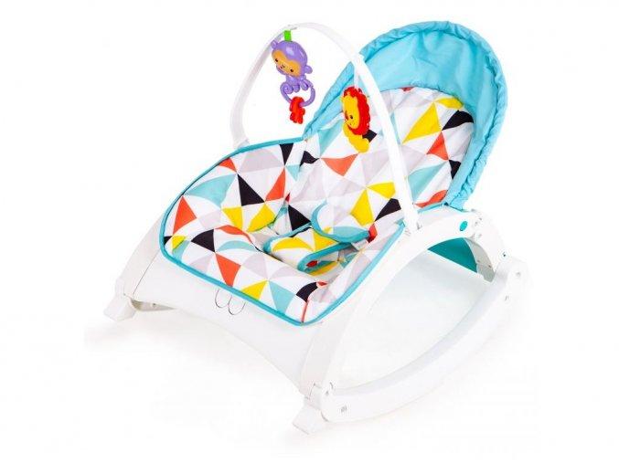 Ecotoys dojčenské lehátko 3v1 s vibráciami a hudbou Animal 9