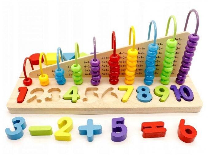 Ecotoys drevená edukačná hračka Počítadlo
