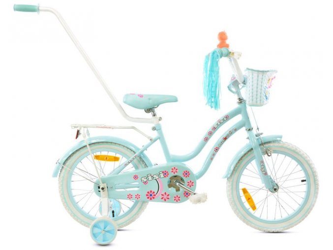 "Detský bicykel Mexller Sisi s vodiacou tyčou blankytná 16"""