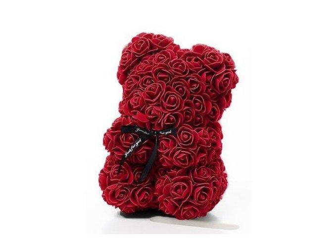 Medvedík z ruží bordo Rose Bear 25 cm