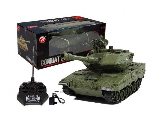 Vojenský tank na diaľkové ovládanie German Leopard 1:28