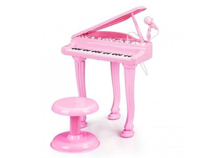 Ecotoys detske piano ruzova