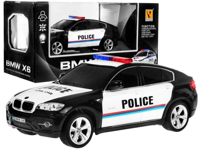 policejni auticko na dalkove ovladani BMW X6