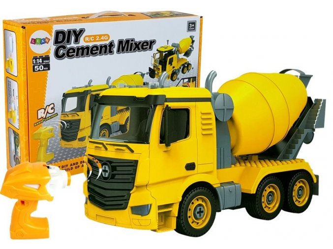 sroubovaci auto na dalkove ovladani 1 14 cement mixer