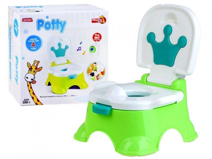 detska nocnik Funny Potty zelena