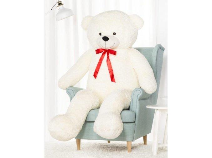 plysovy medved Hugo bily 170 cm