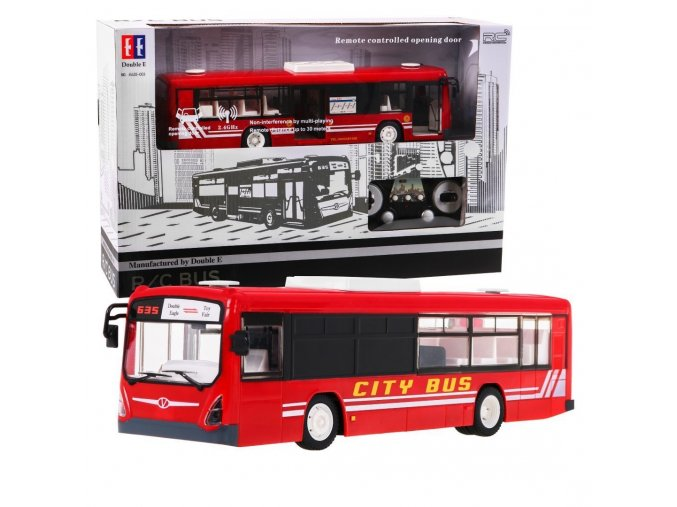 Autobus na dalkove ovladani 1 20 cerveny