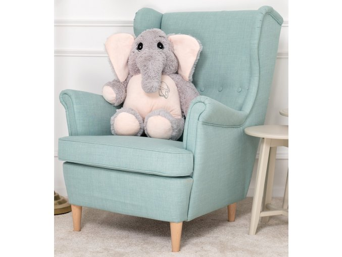 plysovy slon Belly sedo ruzovy 70 cm