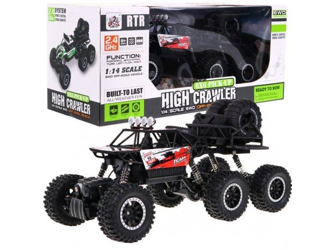 auto na dalkove ovladani sestikolove High Crawler