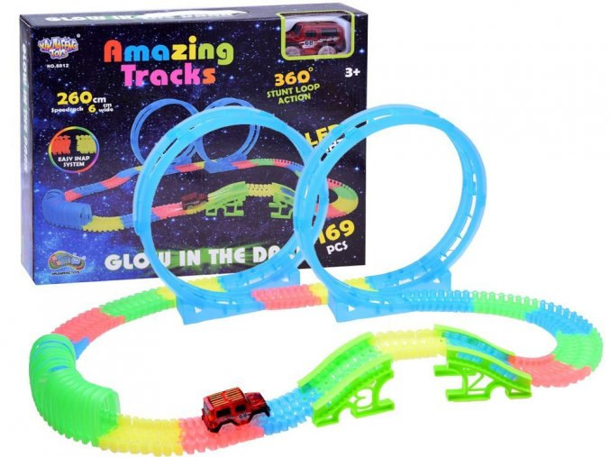 svitici draha s autickem Glow Track 169 dilu