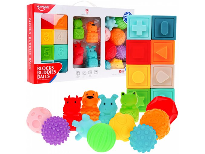 sestava gumových hracek pro nejmensi Blocks Balls