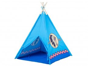 Ecotoys detský indiánsky stan modrý