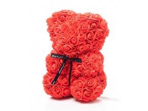 Medvedík z ruží červený Rose Bear 25 cm