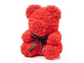 Medvedík z ruží červený Rose Bear 40 cm