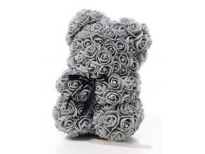 Medvedík z ruží sivý Rose Bear 25 cm