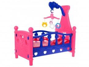 Doris postieľka pre bábiku Mammy Baby s kolotočom
