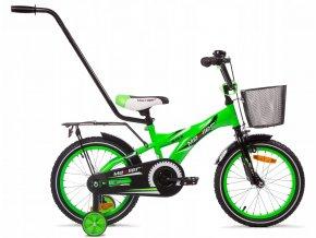 """Detský bicykel Mexller BMX s vodiacou tyčou zelený lesk 16"""""""